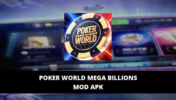 Poker World Mega Billions Featured Cover