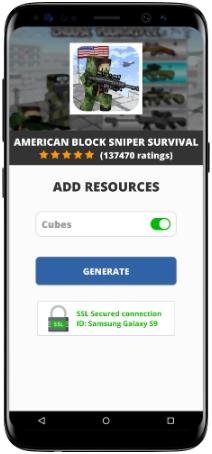 American Block Sniper Survival MOD APK Screenshot