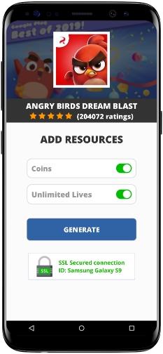Angry Birds Dream Blast MOD APK Screenshot