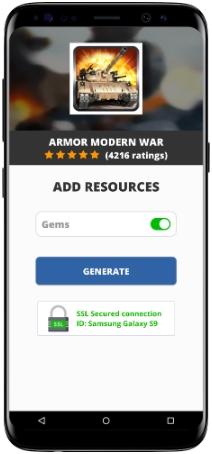 Armor Modern War MOD APK Screenshot