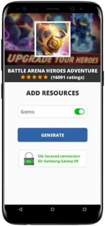 Battle Arena Heroes Adventure MOD APK Screenshot