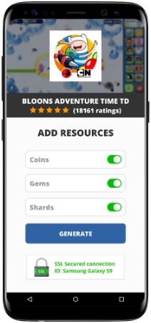 Bloons Adventure Time TD MOD APK Screenshot