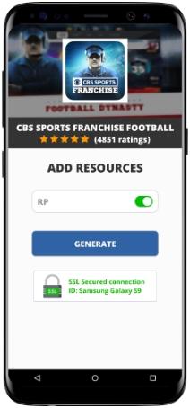 CBS Sports Franchise Football MOD APK Screenshot