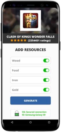 Clash of Kings Wonder Falls MOD APK Screenshot