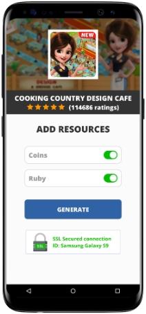 Cooking Country Design Cafe MOD APK Screenshot