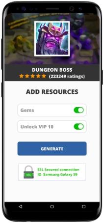 Dungeon Boss MOD APK Screenshot
