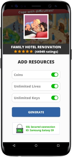 Family Hotel Renovation MOD APK Screenshot
