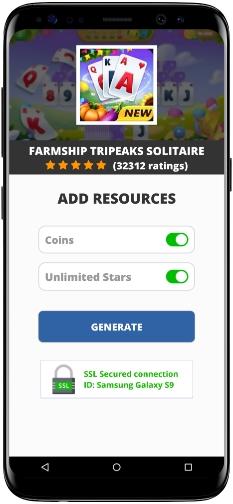 Farmship Tripeaks Solitaire MOD APK Screenshot