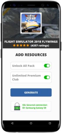 Flight Simulator 2018 FlyWings MOD APK Screenshot