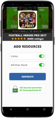 Football Heroes PRO 2017 MOD APK Screenshot