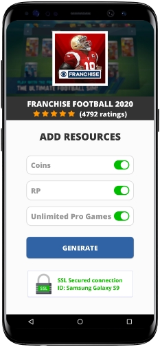 Franchise Football 2020 MOD APK Screenshot