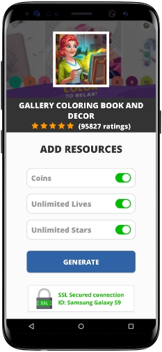 Gallery Coloring Book and Decor MOD APK Screenshot