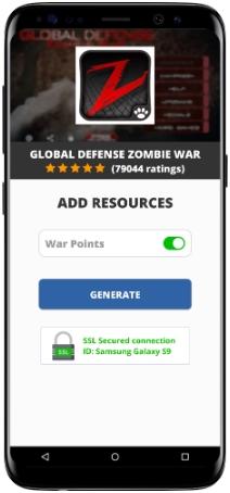 Global Defense Zombie War MOD APK Screenshot