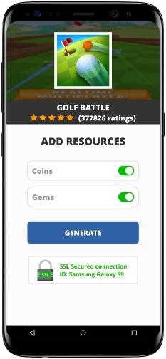 Golf Battle MOD APK Screenshot
