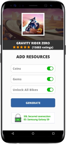 Gravity Rider Zero MOD APK Screenshot
