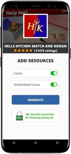 Hells Kitchen Match and Design MOD APK Screenshot