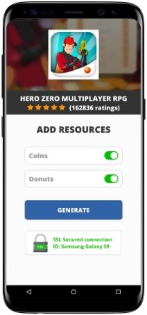 Hero Zero Multiplayer RPG MOD APK Screenshot