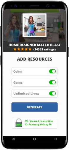 Home Designer Match Blast MOD APK Screenshot