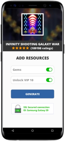 Infinity Shooting Galaxy War MOD APK Screenshot