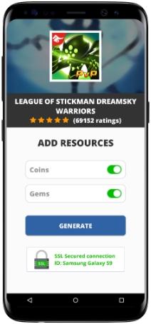 League of Stickman Dreamsky Warriors MOD APK Screenshot