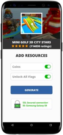 Mini Golf 3D City Stars MOD APK Screenshot