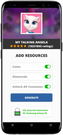 My Talking Angela MOD APK Screenshot