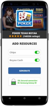 Poker Texas Boyaa MOD APK Screenshot