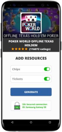 Poker World Offline Texas Holdem MOD APK Screenshot