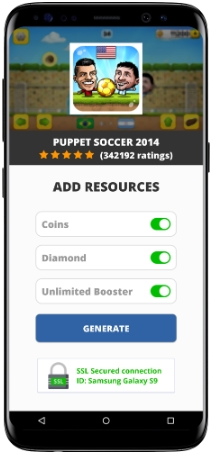 Puppet Soccer 2014 MOD APK Screenshot