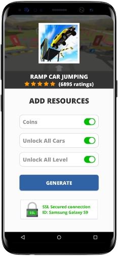 Ramp Car Jumping MOD APK Screenshot