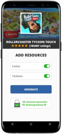 RollerCoaster Tycoon Touch MOD APK Screenshot