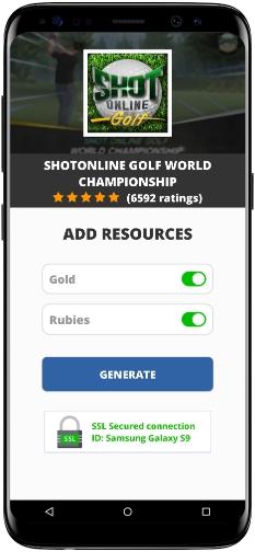 SHOTONLINE GOLF World Championship MOD APK Screenshot