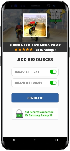 Super Hero Bike Mega Ramp MOD APK Screenshot