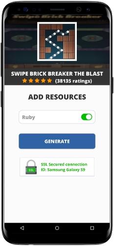 Swipe Brick Breaker The Blast MOD APK Screenshot