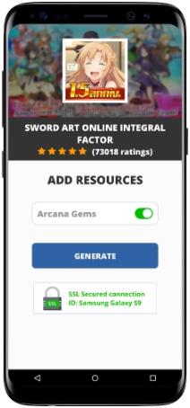 Sword Art Online Integral Factor MOD APK Screenshot