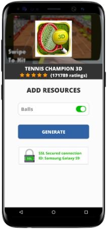 Tennis Champion 3D MOD APK Screenshot