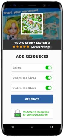 Town Story Match 3 MOD APK Screenshot