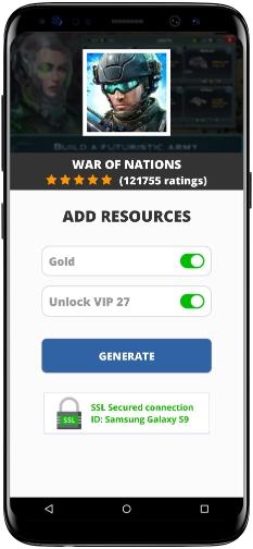War of Nations MOD APK Screenshot