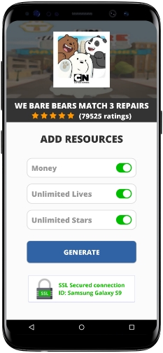 We Bare Bears Match 3 Repairs MOD APK Screenshot