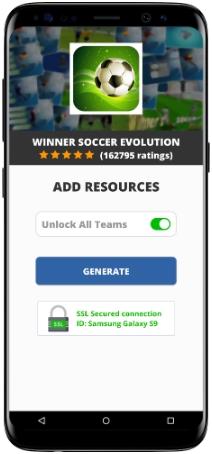 Winner Soccer Evolution MOD APK Screenshot