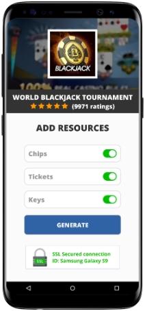 World Blackjack Tournament MOD APK Screenshot